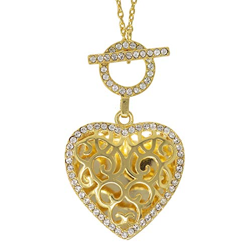 With You Lockets-Fine Yellow Gold-Custom Photo Locket Necklace-That Holds Pictures for Women-The Clara ()