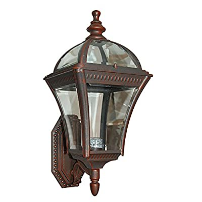 ETOPLIGHTING Le Affinage Collection Oil Rubbed Rustic Body Finish Exterior Outdoor Lantern Light with Beveled Glass