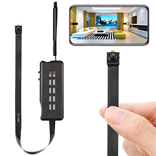 🥇 Spy Camera Module Wireless Hidden Camera WiFi Mini Cam HD 1080P DIY Tiny Cams Small Nanny Cameras Home Security Live Streaming Through Android/iOS App Motion Detection Alerts