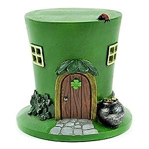 miniature fairy garden st patricks day led leprechaun hat house jordys market
