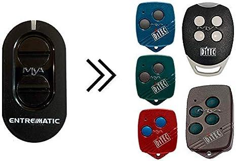 Mando original ENTREMATIC ZEN4 compatible con mandos DITEC BIXLG4, DITEC BIXLP2, DITEC BIXLS2, DITEC GOL4, DITEC BIXLP2 RED