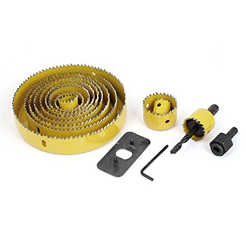 Drill Bits - SODIAL(R) Wood Sheet Metal Cutter Mandrels Saws Hole Saw Drill Bits Kits 16 Pcs by SODIAL(R)