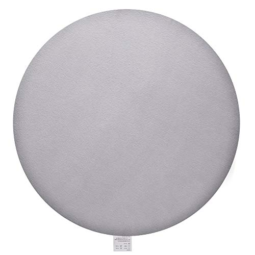 GENERAL ARMOR Memory Foam Seat Cushion, Round Chair Pad 16 Inch, Comfy Removable Cover (Grey+White)