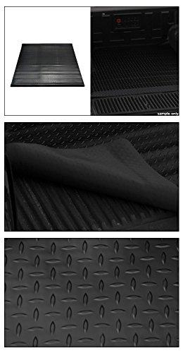 Topline Autopart Black Rubber Diamond Plate Truck Bed Floor Mat Liner For 09-18 Dodge Ram 1500//2500 68.4 Short Bed 3500 Rambox Cargo Management System 5.7 Feet