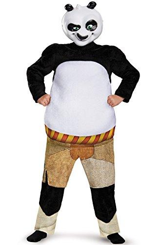 Kung Fu Panda Costumes (Panda-Po Deluxe/Muscle Costume, Large)
