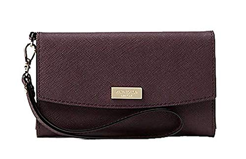 Kate Spade New York Laurel Way Saffiano Leather Wristlet, Deep Plum