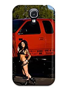 New PDIadgl5282HdrAn Girls And Cars Skin Case Cover Shatterproof Case For Galaxy S4