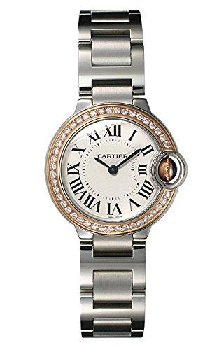 (カルティエ) CARTIER 腕時計 バロンブルー SM SS&PGコンビ WE902079 シルバー ベゼルダイヤ レディース [並行輸入品] B014HCDK3K