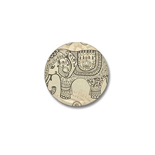 CafePress - Vintage Elephant Mini Button - 1