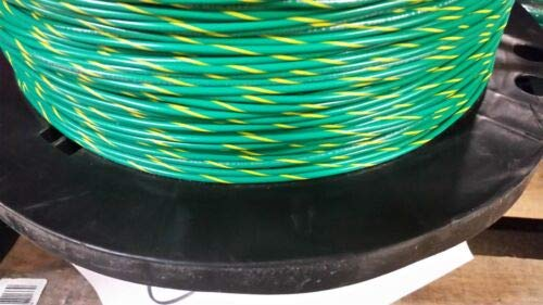 JumpingLight 16 Gauge Wire Green W//Yellow 1000 FT Primary AWG Stranded Copper Power MTW Cables Electronic Stranded Wire Cable Electrics DIY