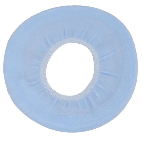Bathroom Elastic O Shape Flush Toilet Closestool Seat Cover Pad Mat Baby Blue