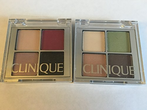 Clinique eyeshadow set ( 2 plate 8 colors ! ) : CA Raspberry Beret, 06 Pink Chocolate, 09 Smoke & Mirrors, 10 Going Steady + 2A Lemongrass , 02 Sand Dunes, 06 Pink Chocolate, 01 sunset glow ()