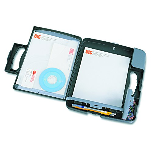 Officemate Portable Clipboard Storage Case, Charcoal (83301) ()