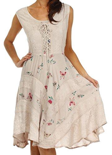 Sakkas 12311 Fairy Maiden Corset Style Dress - Clay - 1X/2X (Plus Size Fairy Dress)