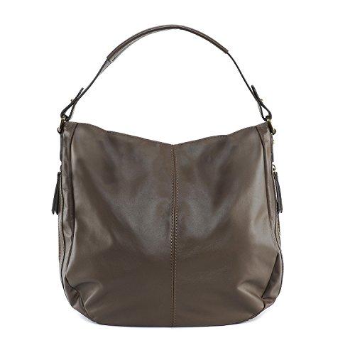 OH Fonce femme cuir BAG MY Cannes à souple main Sac Modèle Taupe Tr1TqawB