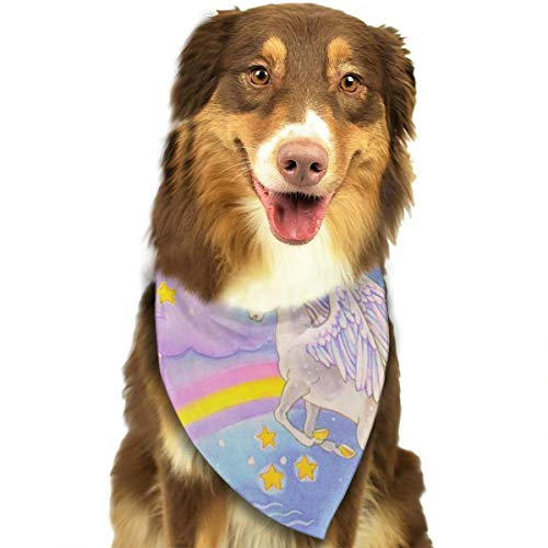 Pet Scarf Dog Bandana Bibs Triangle Head Scarfs Rainbow Unicorn Accessories for Cats Baby Puppy -