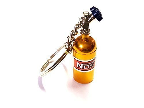 ore 1x NOS Power Lachgas Flasche Einspritzung Schlüsselanhänger aus ALU in gelb Schlüssel KFZ PKW G60 G40 VR6 16V Flasche mit abnehmbarnen Deckel Anhänger ca 10, 0 Lang & 1, 6 Breit 6416