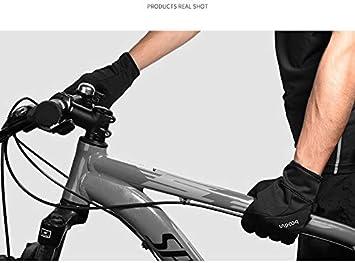 FORTOO Guantes Ciclismo Invierno Mujer Guantes Bicicleta Monta/ña Impermeable Guantes MTB Bici Dedo Completo para Mujer Hombre Mitad Temporada