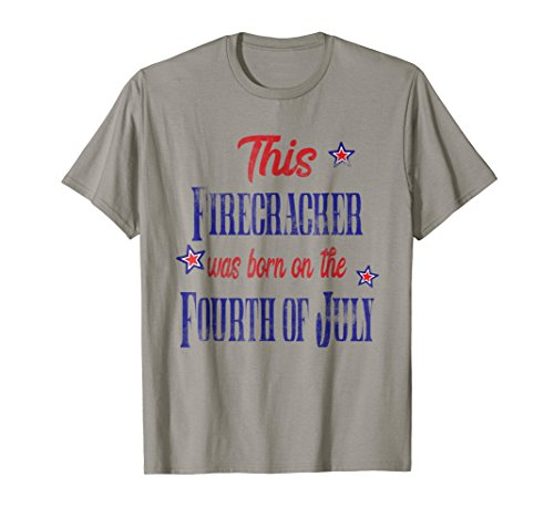 4th of July Birthday Shirt Firecracker Born on the Fourth ()