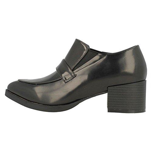 Spot On High Heel Loafer Damen Schuhe Schwarz