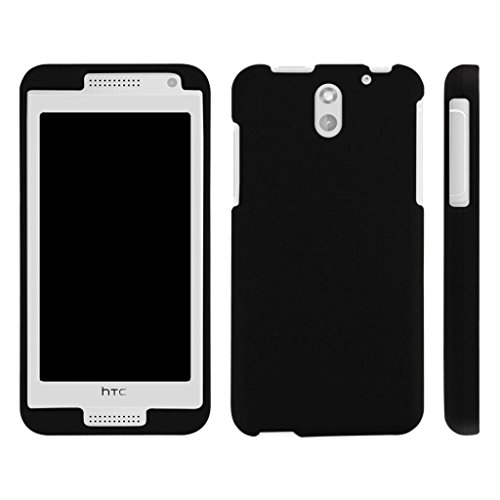 TurtleArmor | Compatible for HTC Desire 610 Case [Slim Duo] Hard Shell Snap On Case Fitted Compact Matte on Black Robot Android Design - Black (Htc 610 Phone Screen)