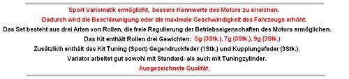 Unbranded Racing VARIOMATIK Riemen Scheibe KIT Set KOMPLETT f/ür KYMCO Like Vitality 2T 50 Zylinderkit