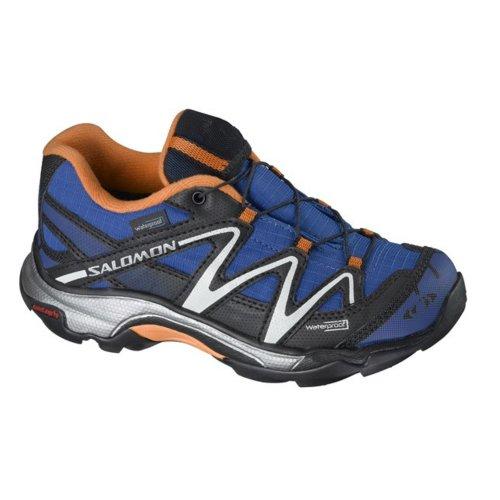 Salomon XT WINGS WP - Zapatillas para niño - COSMOS BLUE / BLACK / ORANGE FEELING