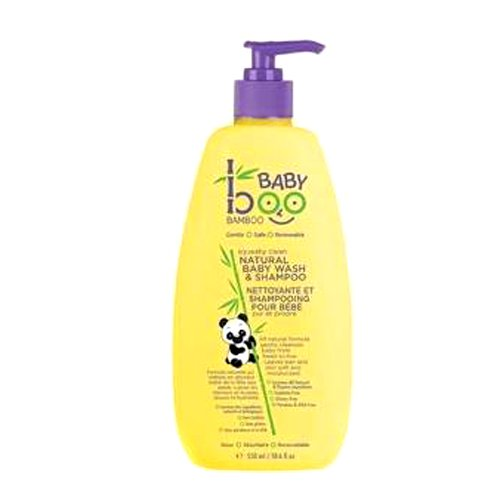Boo Bamboo Baby Wash and Shampoo, Squeaky Clean, 18.6 Fluid Ounce 4332395412