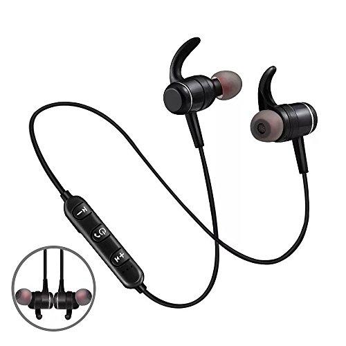 Dkaile Magnetic Wireless in-Ear Earphones, Sport Fit Design Bluetooth Earbuds Headphones, Sweatproof Headsets(Bluetooth 4.2 Super Sound Quality)