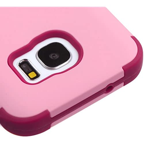 Samsung Galaxy S7 G930 Case, Kaleidio [TUFF] Shockproof Hybrid Dual Layer Protective Cover [Includes a Overbrawn Prying Tool] [Soft Pink/Rose] Sales