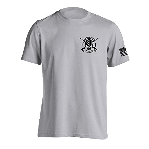 One Nation Under God Military T-Shirt X-Large - Logo T-shirt New Grey Marines
