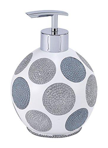 Avanti Linens 13870D WHT Dotted Circles Lotion Pump, White ()