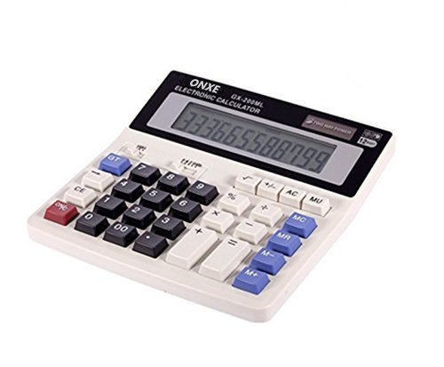 ONETWO Desktop Office 12 Digit Display Standard Function Scientific Electronic Calculator,Calculating Machine For Solar And Battery Powered,Applicable To Student Business Financial Accounting