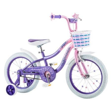 "Best Seller Bike for Children 16"" Schwinn Twilight Girls' Bike, Pink/Purple 
