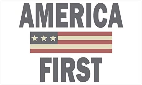 AMERICA FIRST BUMPER STICKER AUTO