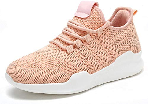 (ADFSAED Ladies Sneakers Women's Mesh Walking Running Shoes Lightweight Breathable Lace Up Athletic Gym Casual Shoes (Color : Orange, Size : 35))