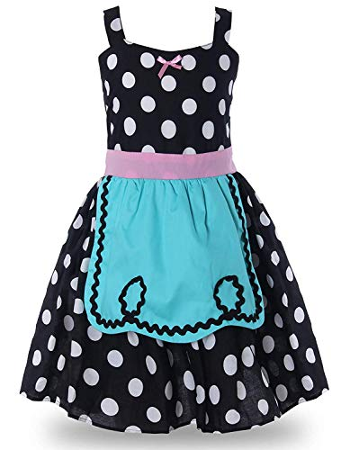 MOREMOO Maid Dress Cosplay Girls Halloween Costumes Fancy Dress(Black -