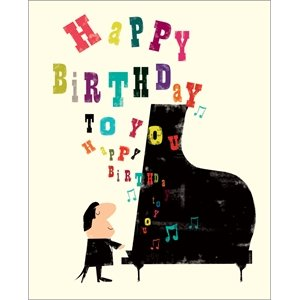 Birthday card happy birthday piano and musical note design birthday card happy birthday piano and musical note design bookmarktalkfo Images