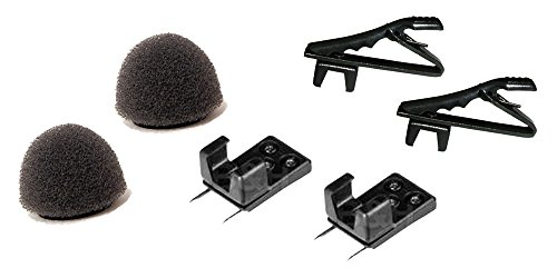 Tram Microphones Accessories Bundle - 6 Items: (2) BWS Windscreen (2) BCOH Vampire Clip (2) BTB Tie Bar