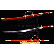 "handmade sanmai clay tempered chinese broad sword ""QING DAO"" --Ryan814"