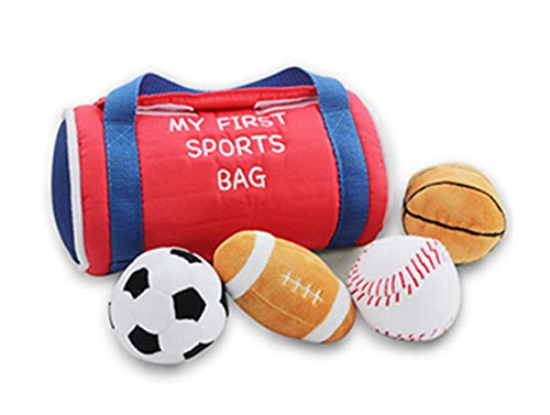 My First Sports Bag Baby , Cloth Balls, Interesting and Rich Sport Balls for Early Education and Baby Toy