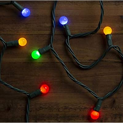 GE StayBright 50-Count 20.4-ft Multicolor LED Pearl Christmas String Lights : Garden & Outdoor