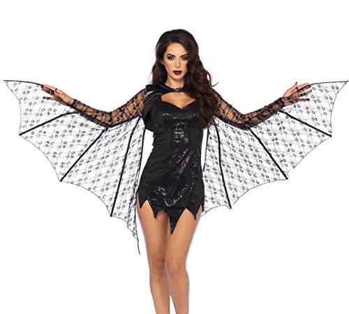 Dragon Lady Adult Halloween Costumes - Leg Avenue Women's Lace Bat Wing