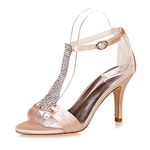 Platform La Las Peep L 9920 Evening De Wedding Mujeres Heels High 07a Toes Boda Champagne yc Zapatos RqwzpxnzfB