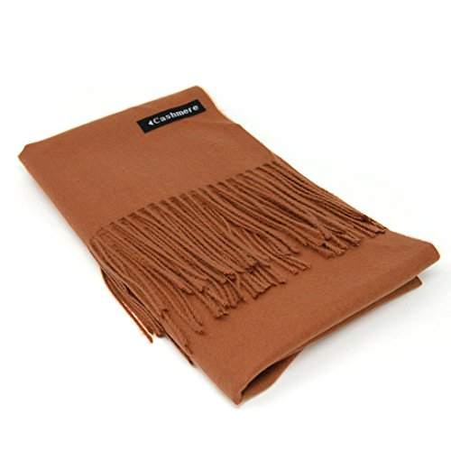 Copper Bronze 100% Cashmere Scarf - Gift Box, Large Size, Removable Tag, Limited (Scarf Bronze)