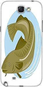 Snoogg Atlántico Diseñador Bacalao Retro Protectora Del Caso De La Contraport...