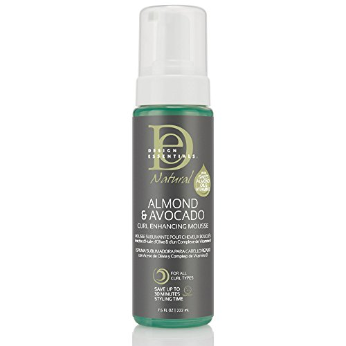 Design Essentials Natural Curl Enhancing Mousse, Quick Drying Must-Have for Perfectly Defined Luminous Curls-Almond & Avocado Collection, 7.5oz from Design Essentials