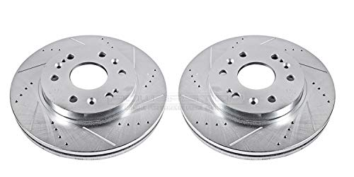- Power Stop AR8654XPR Front Evolution Drilled & Slotted Rotor Pair