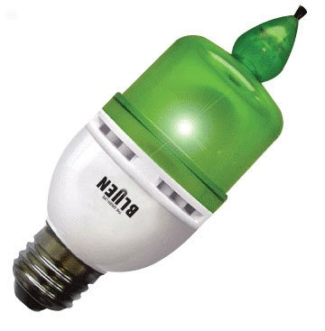 Forest Anion LED Candle Night Light Green