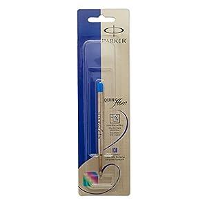 PARKER QUINKflow  Ballpoint Pen Ink Refill, Medium Tip, Blue, 1 Count